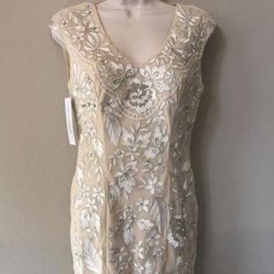 Sue Wong Embellished Sheer BackSheath DRESS 6 #180